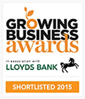 Growing Business Awards shortlisted 2015