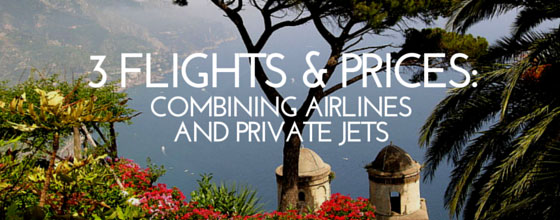 3 flights prices in june combining airlines and private flights