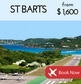 Fly to St Barts from €1,350