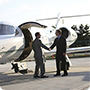 Which corporate sectors use private jets?