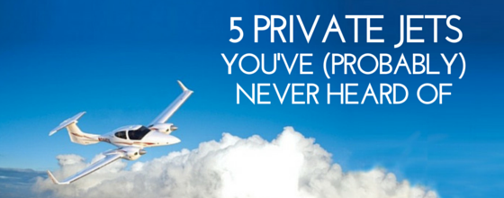 5 private jets you've (probably) never heard of