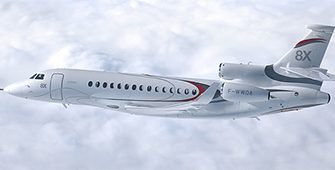 First flight for the Falcon 8X