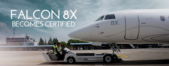 The Falcon 8X is certified