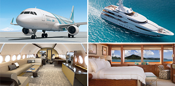 The perfect luxury match: Private jets ❤ superyacht
