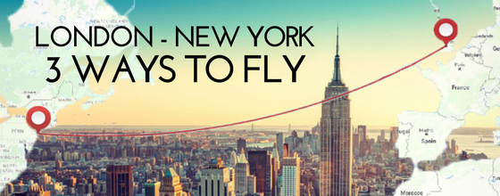 Private jet shuttle between London and New York