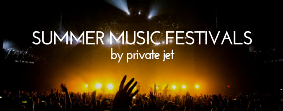 Music festivals by private jet
