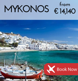 Fly to Mykonos from €14,140