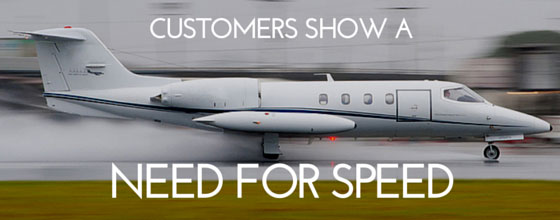 Private jet customers show a need for speed
