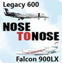 Nose to Nose: Legacy 600 vs Falcon 900LX