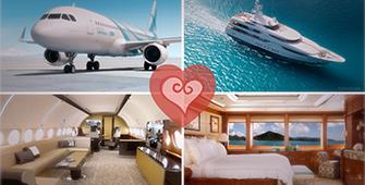 Private jets love superyachts