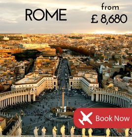 Fly to Rome from £8,680