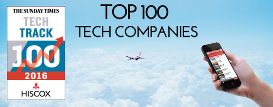 PrivateFly in the Sunday Times Tech Track 100