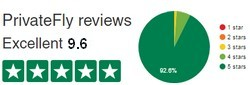 PrivateFly TrustPilot reviews