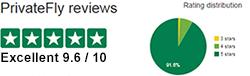 PrivateFly TrustPilot reviews
