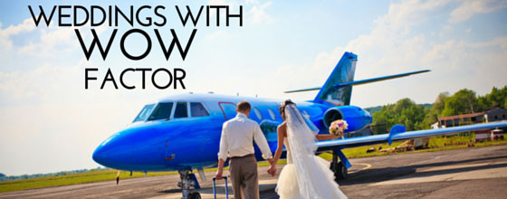 Weddings by private jet