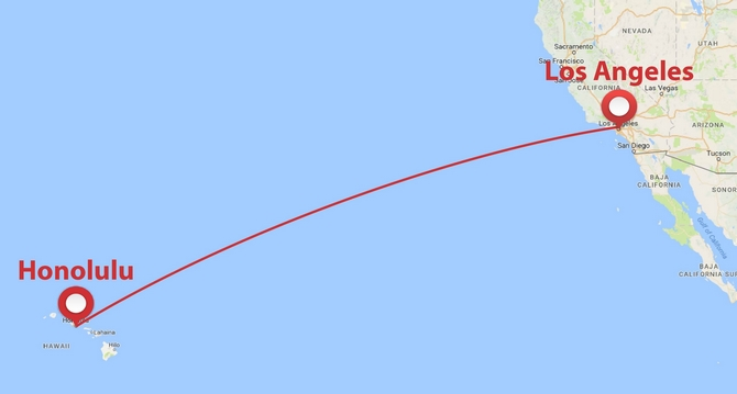 Private Plane Shuttle Between Los Angeles And Hawaii
