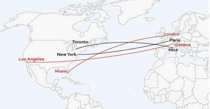 Crossing the atlantic by private jet privatefly usa for Flights to paris from new york
