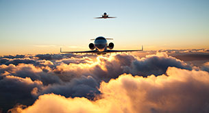 What height (altitude) do private jets fly at?
