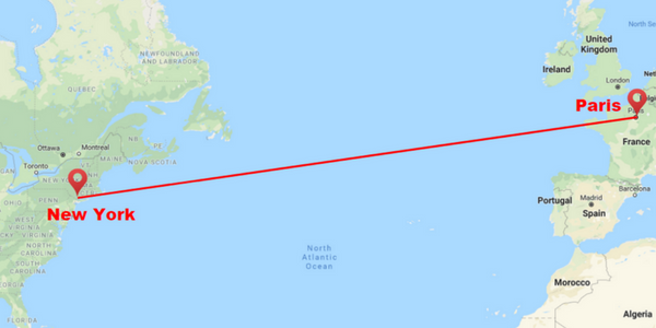 Map Of Ireland To New York.Private Jet Flights Prices For New York City To Paris