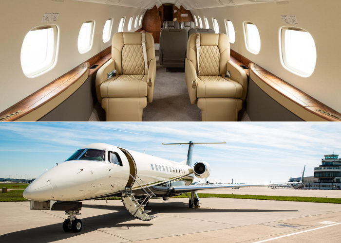 Legacy 600 private jet exterior and interior