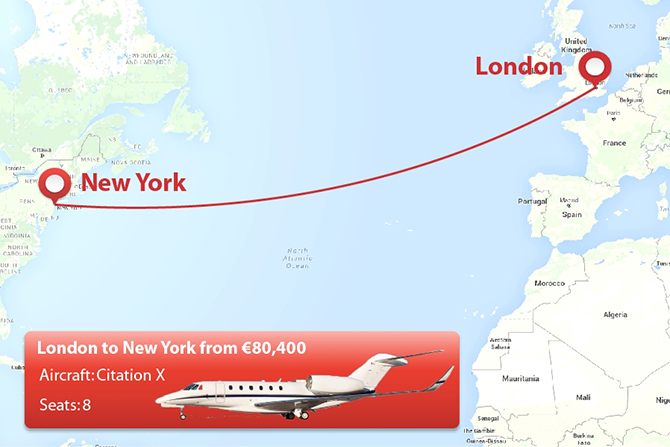 Top private jet routes that mean business privatefly london to new york publicscrutiny Gallery