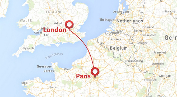 Private jet from london to paris privatefly for Flights to paris from new york