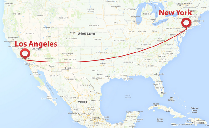 private plane shuttle from new york to los angeles