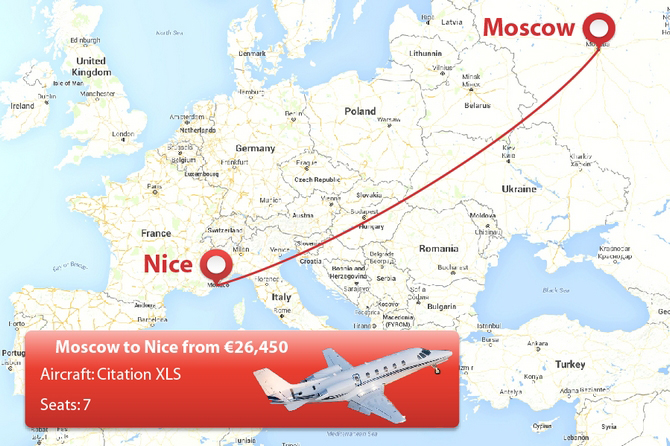Moscow to Nice