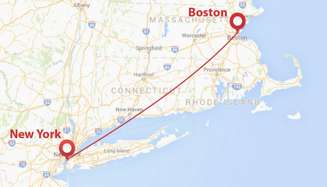 new york and boston map Private Jet From New York To Boston Privatefly Usa new york and boston map
