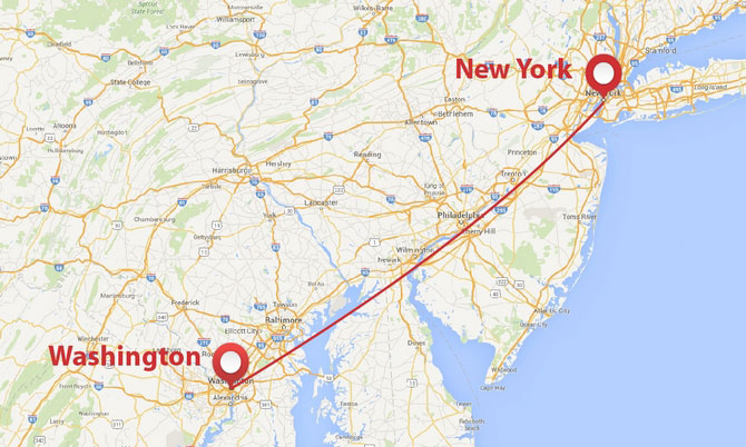 Worksheet. Private jet shuttle between New York City and Washington DC