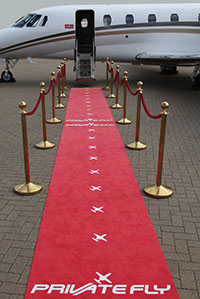 Red Carpet by Private Jet