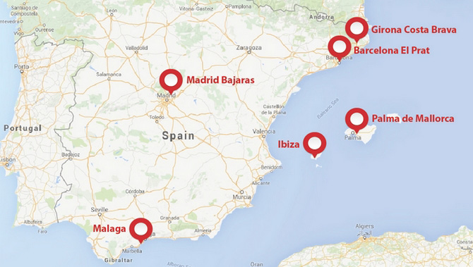 Map Of Spain With Airports.Private Jet Travel To Spain Privatefly