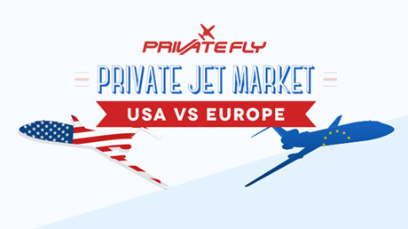 Private jet market in Europe vs. USA